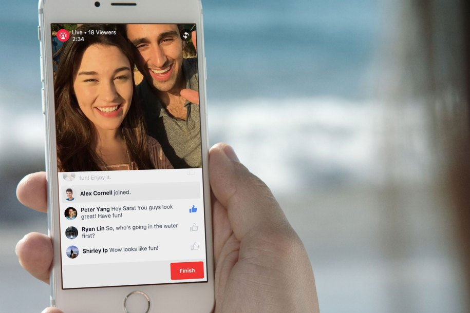 Facebook adds Live API to it's platform, increasing viewership (photo credit: Adweek)